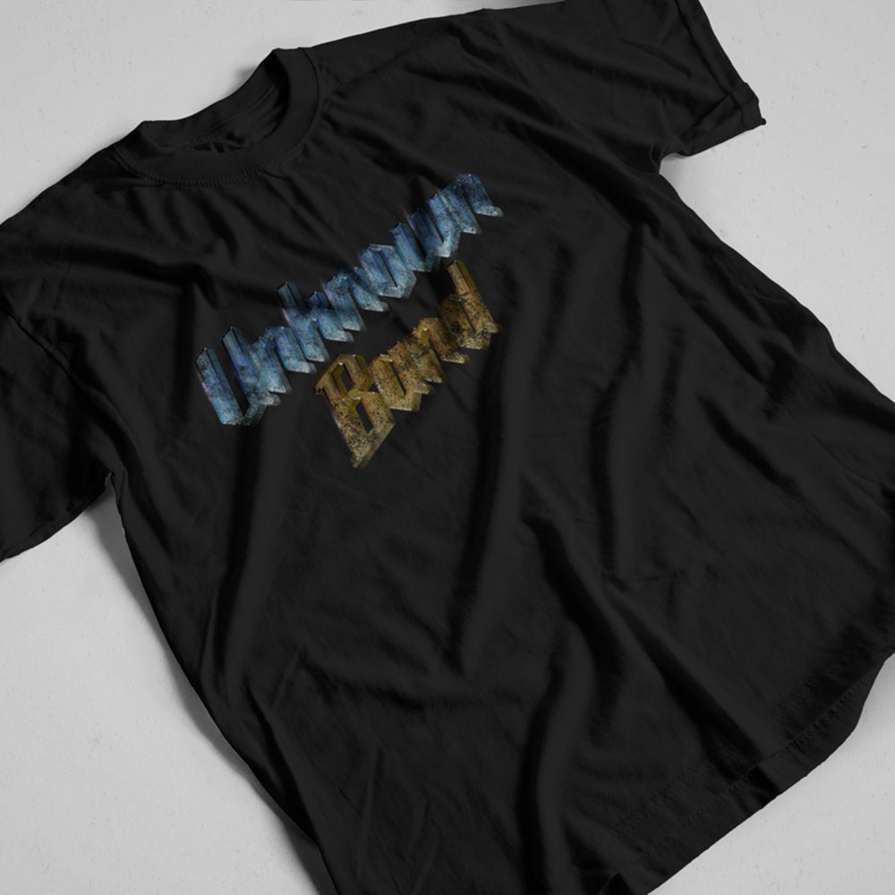 Unknown Band T-shirt. Black. Frong Woot