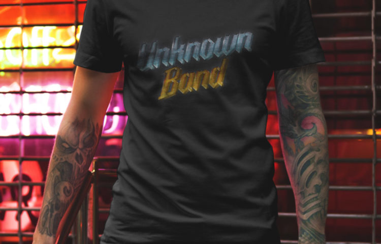 """""""Unknown Band"""" Short Sleeve T-Shirt - Black. Frong Woot"""