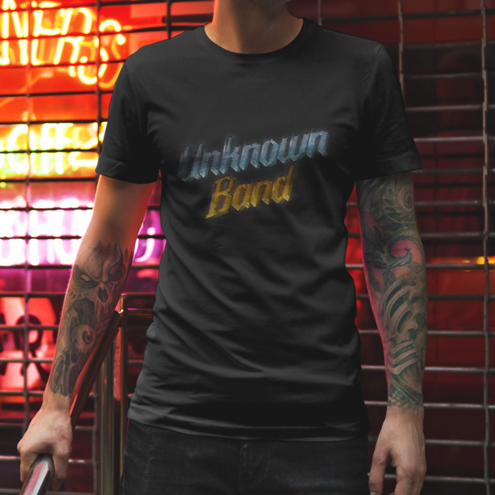 """Unknown Band"" Short Sleeve T-Shirt - Black. Frong Woot"