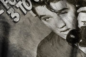 Elvis Meme Print Close-Up