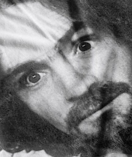 Charles Manson Fabric Print Close-Up