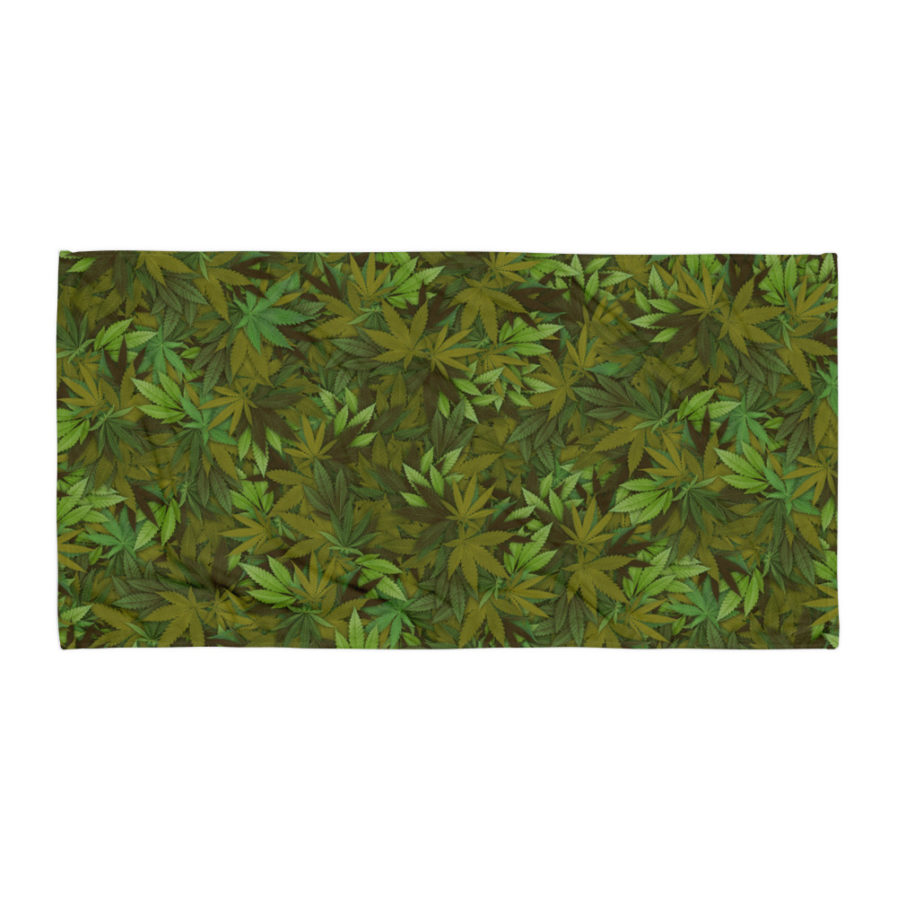 Cannabis - Weed Leaf Camouflage Towel. Frong Woot