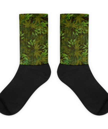 Cannabis Camouflage Leaf Socks. Frong Woot