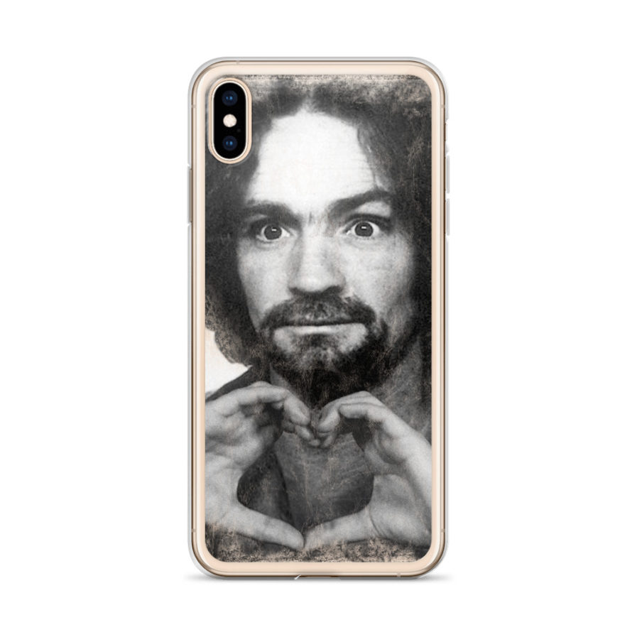 Charles Manson shows Love - iPhone case