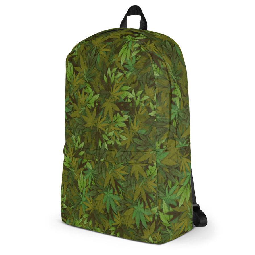Cannabis - weed leaf Camouflage Backpack. Frong Woot