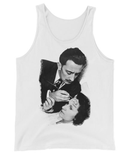 Salvador Dali signing Pablo Picasso gag. Tank top print. Frong Woot
