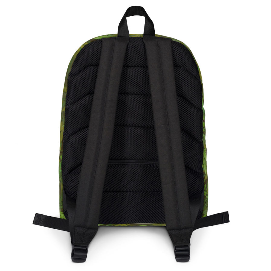 Cannabis - weed leaf Camouflage Backpack. Back