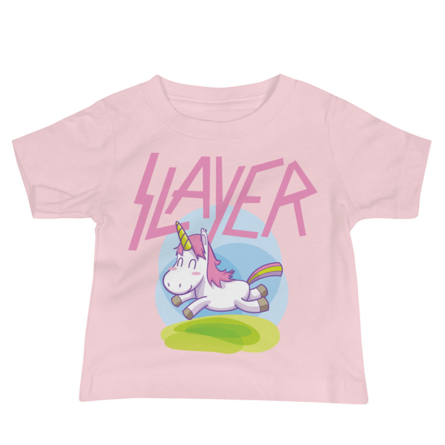 Slayer Unicorn Baby Jersey Tee - Pink. Frong Woot