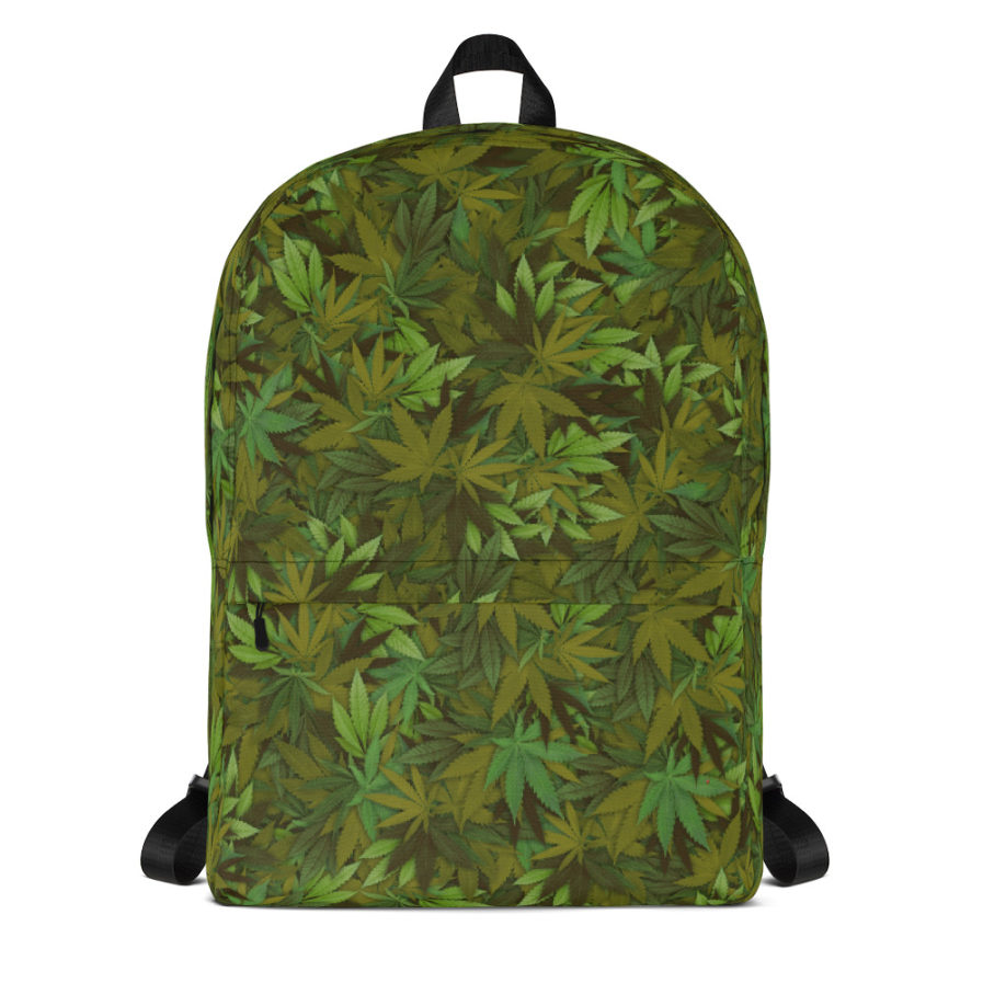 Cannabis - weed leaf Camouflage Backpack.