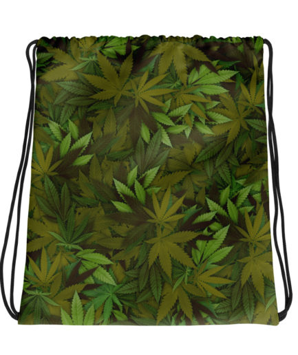 Cannabis - Weed Leaf Camouflage Drawstring Bag. Frong Woot