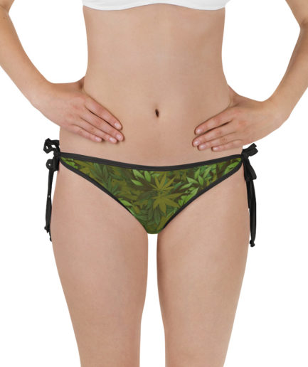 Weed leaf camouflage bikini bottom - Front view. Frong Woot