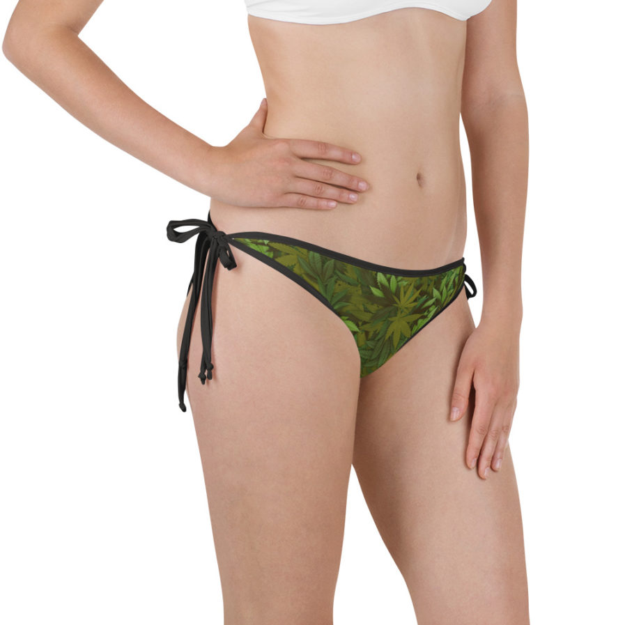 Weed leaf camouflage bikini bottom - Right view