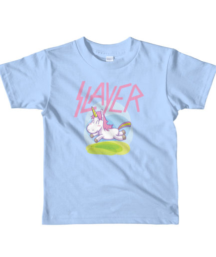Slayer unicorn kids t-shirt - blue