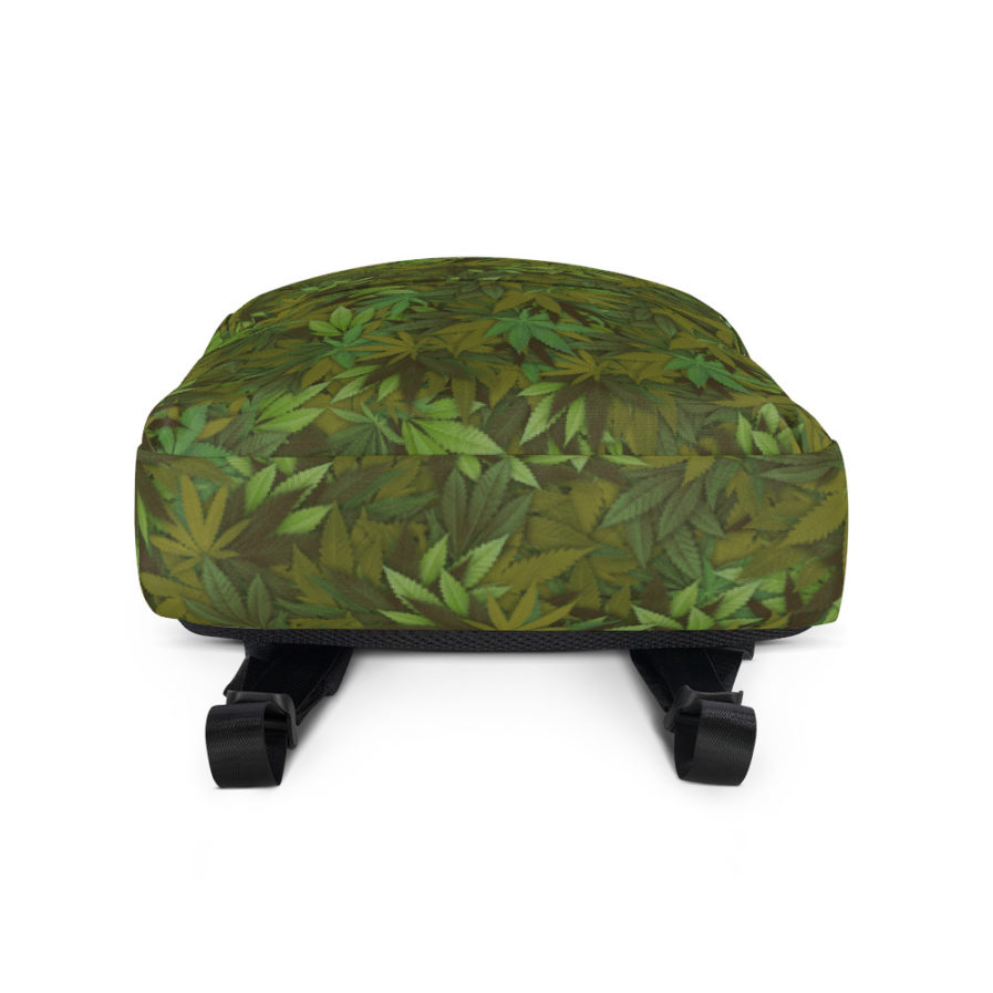 Cannabis - weed leaf Camouflage Backpack Bottom View