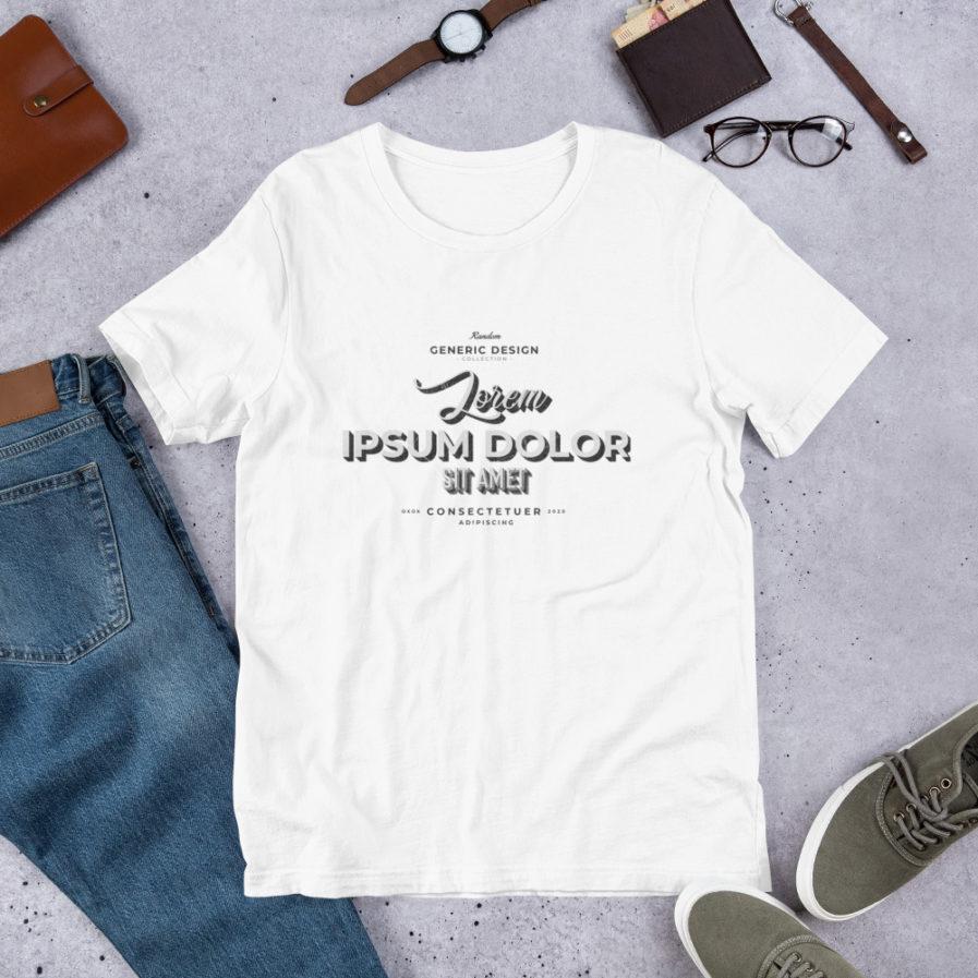 Lorem Ipsum T-shirt, Man, woman, unisex tee in whitecolor.