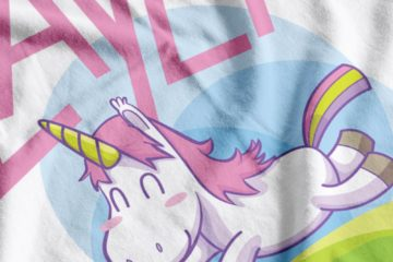 Slayer Unicorn Fabric Print Close-Up