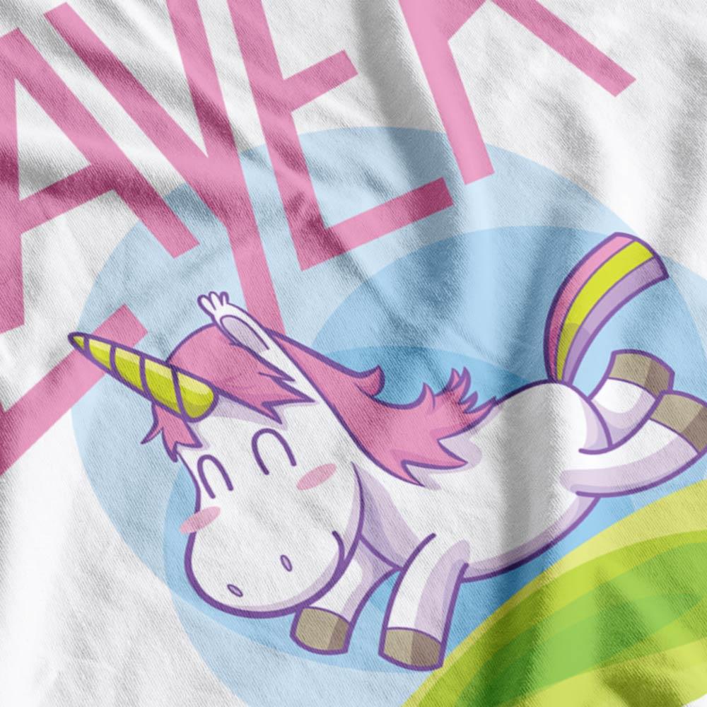 Slayer Unicorn Fabric Print Close-Up