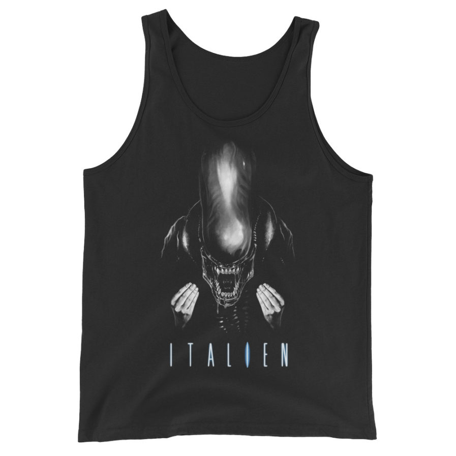Italien - Alien movie Parody Tank top. Frong Woot