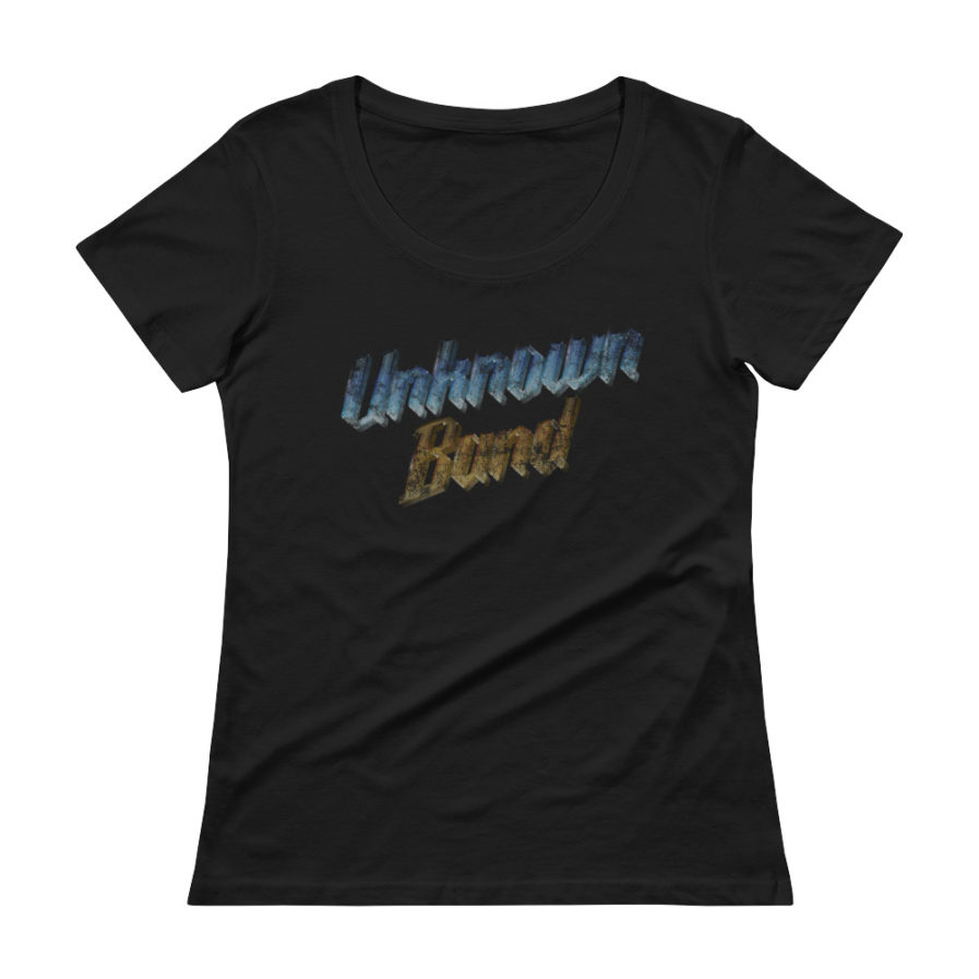 """Unknown Band"" Scoopneck T-shirt - Black"