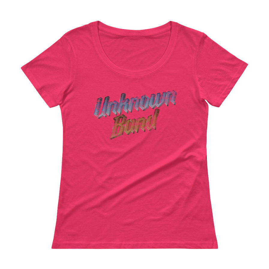 """Unknown Band"" Scoopneck T-shirt - Pink"