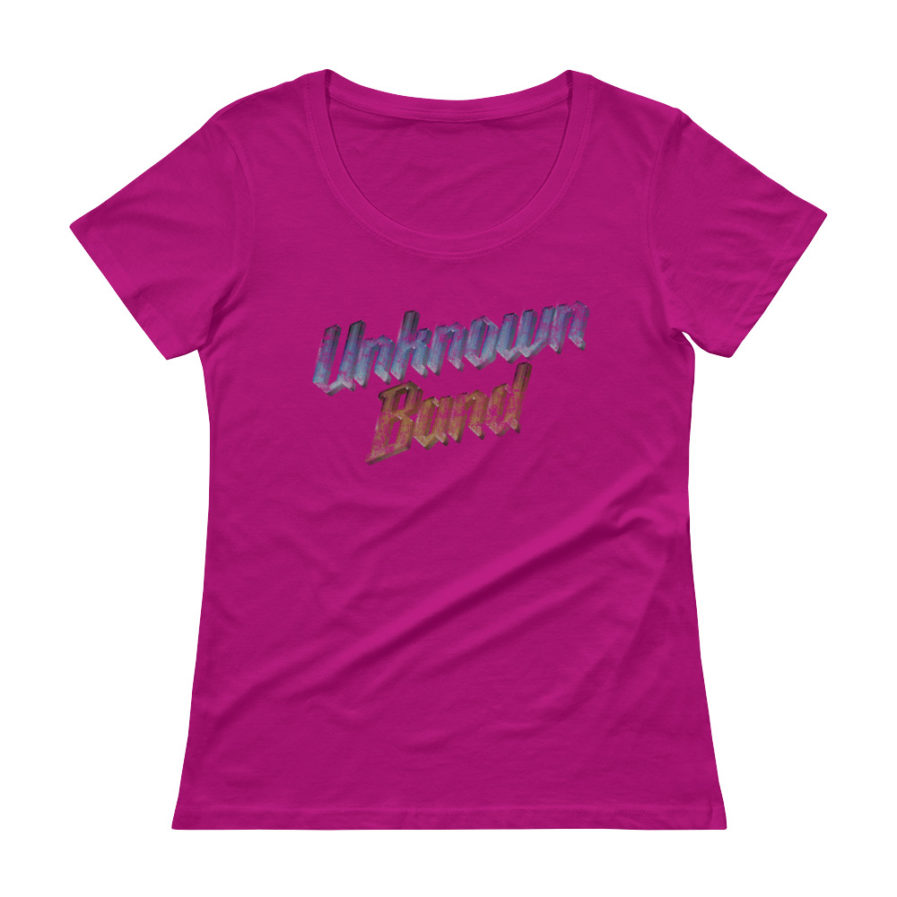 """Unknown Band"" Scoopneck T-shirt - Raspberry"