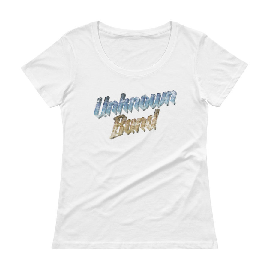 """Unknown Band"" Scoopneck T-shirt - White"