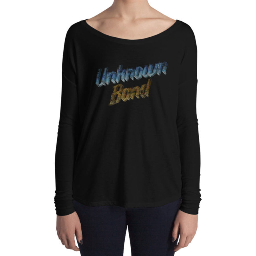 """Unknown Band"" Woman's Long Sleeve Tee - Black"