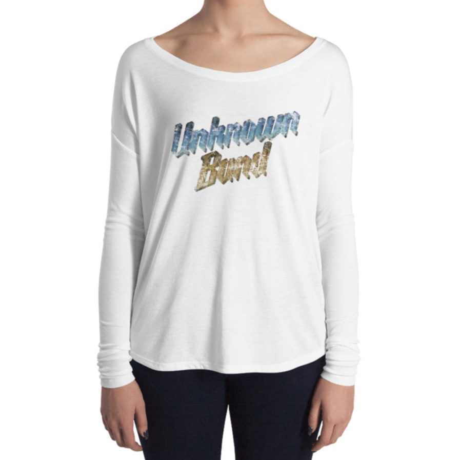 """Unknown Band"" Woman's Long Sleeve Tee - White"