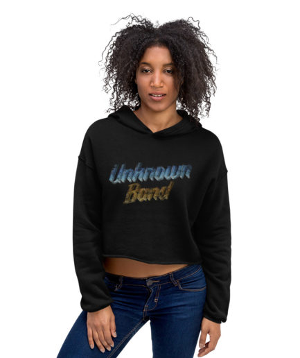 """Unknown Band"" Crop Hoodie. Frong Woot"