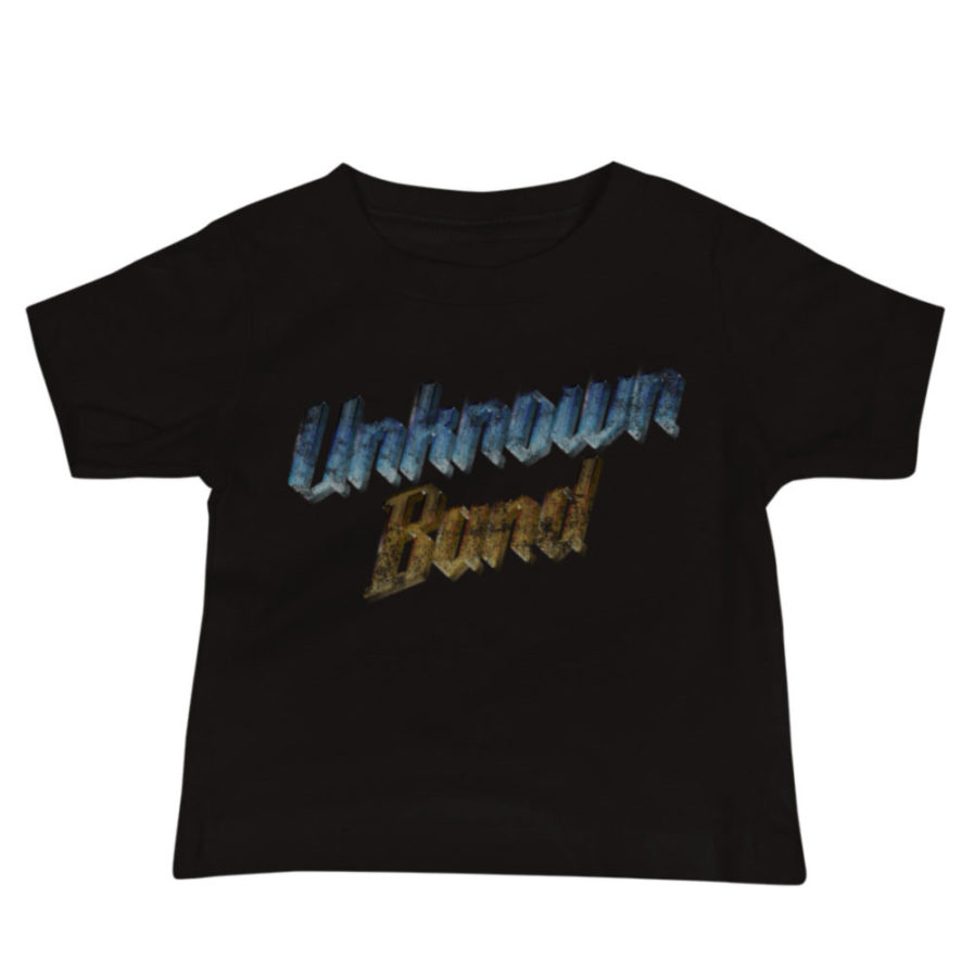 """Unknown Band"" baby tee. Black"