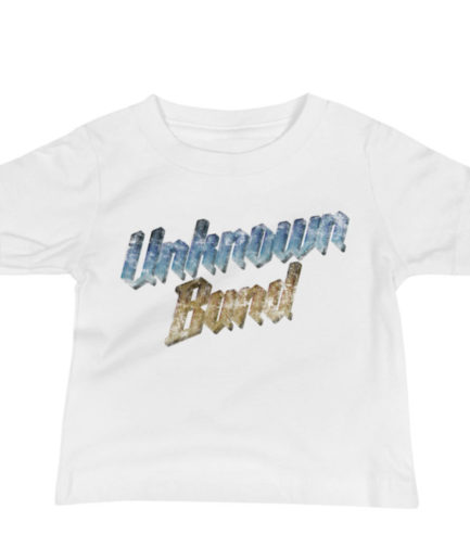 """Unknown Band"" baby tee. White"