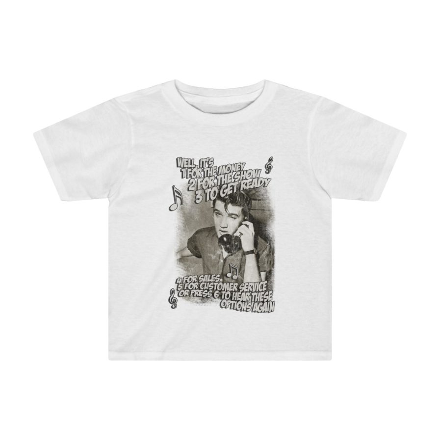 Elvis Presley Customer Service kids t-shirt white