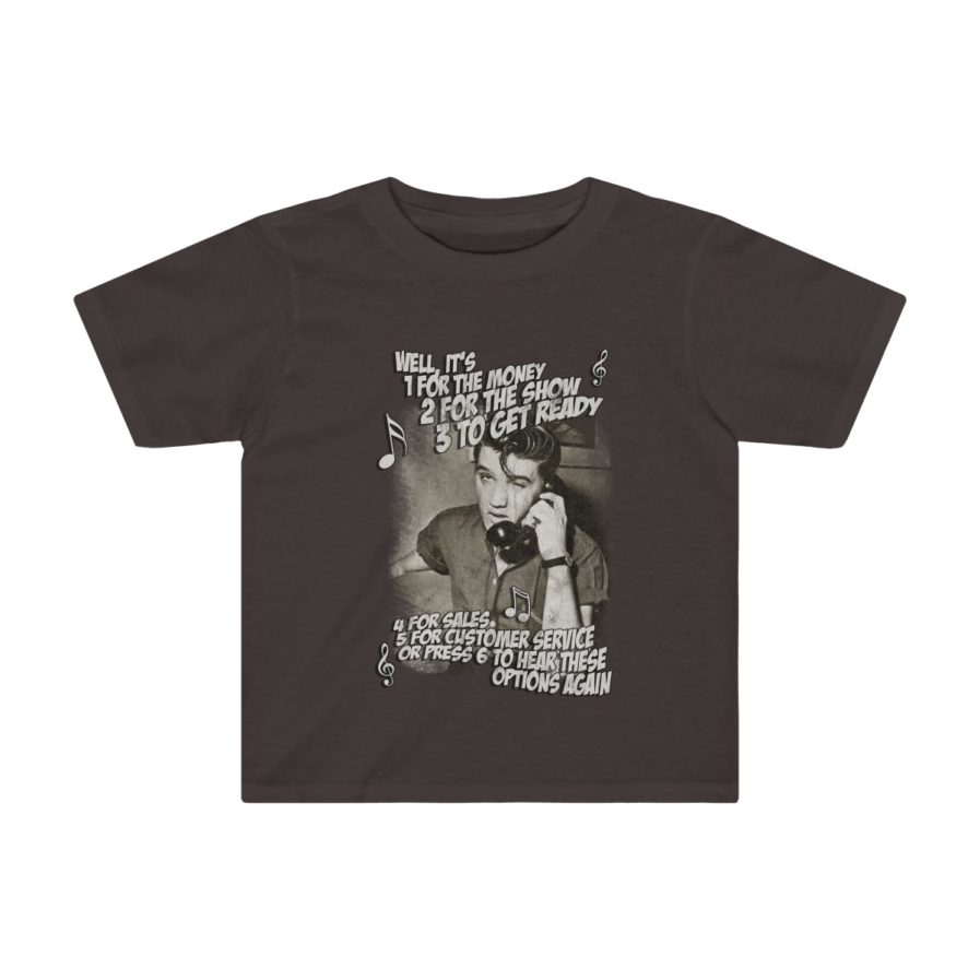 Elvis Presley Customer Service kids t-shirt chocolate