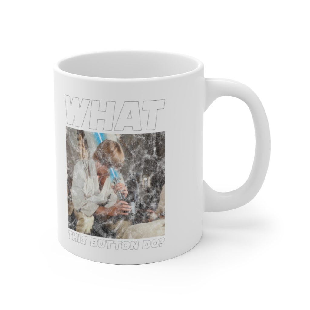 Luke Skywalker Lightsaber fail mug