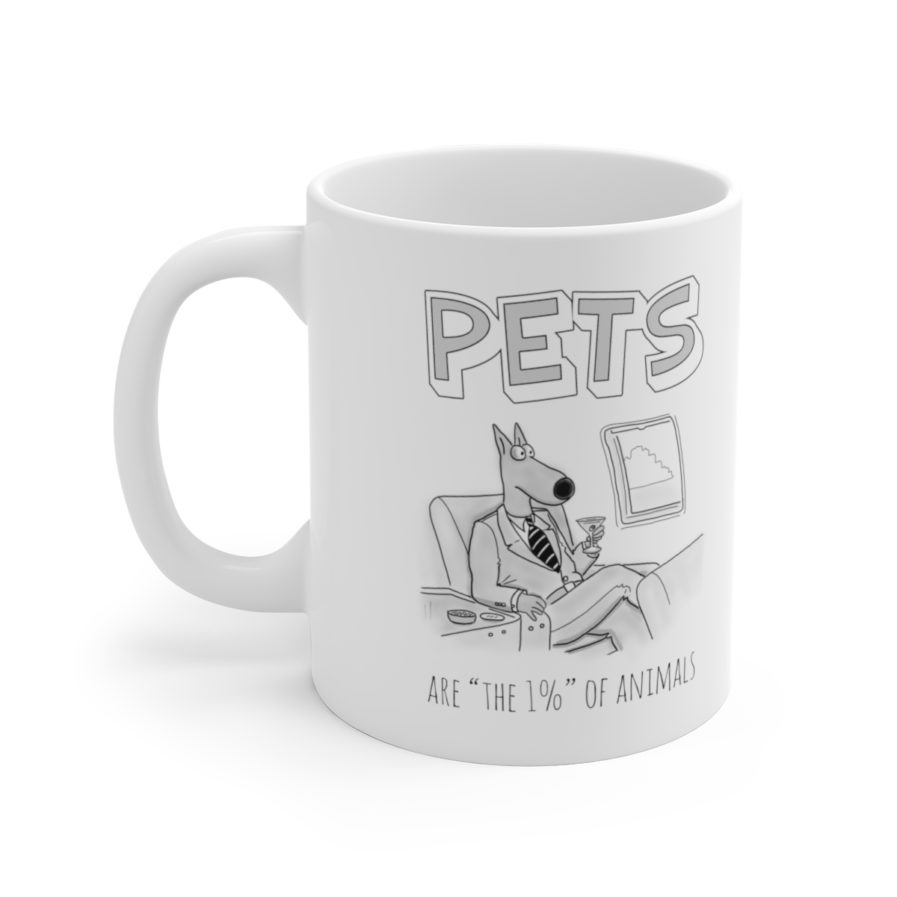 Vegan approved hypocritic mug
