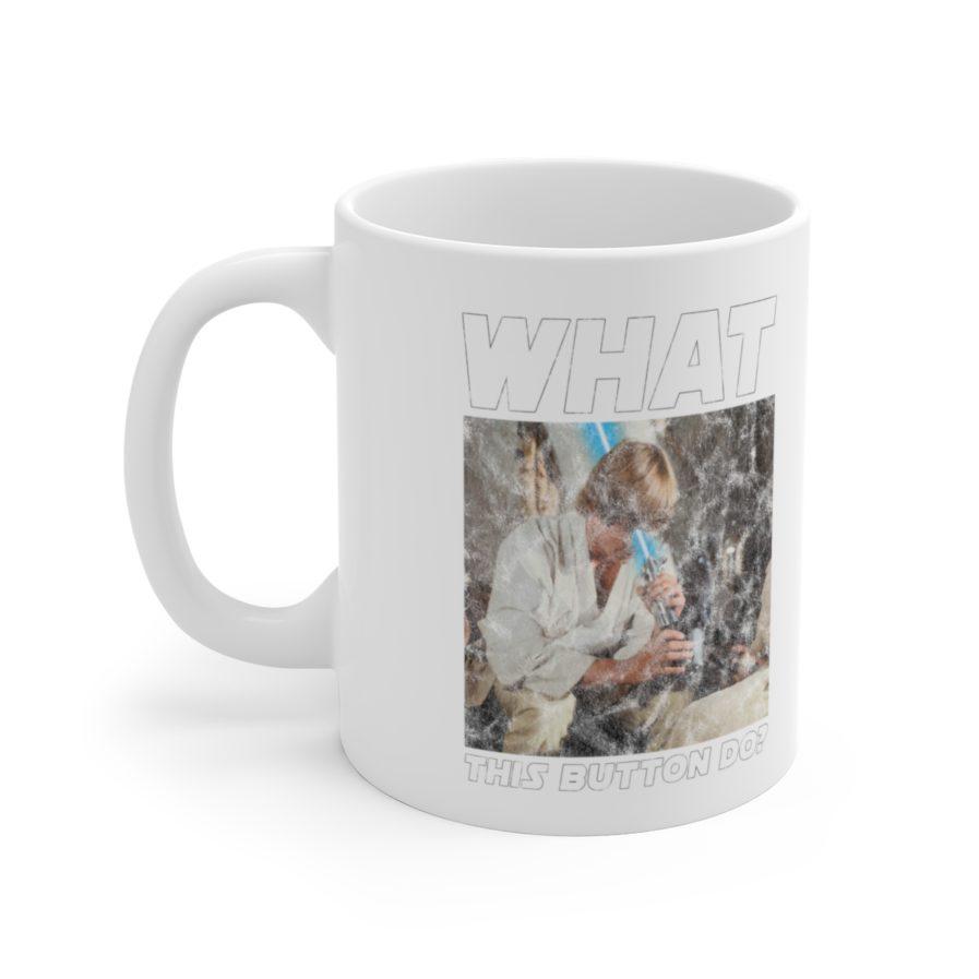 Luke Skywalker Lightsaber fail mug