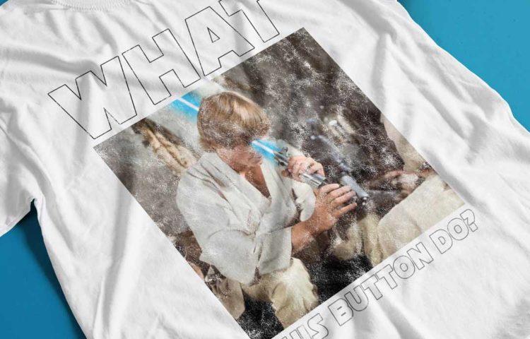 Jedi Luke Skywalker Lightsaber Fail T-shirt