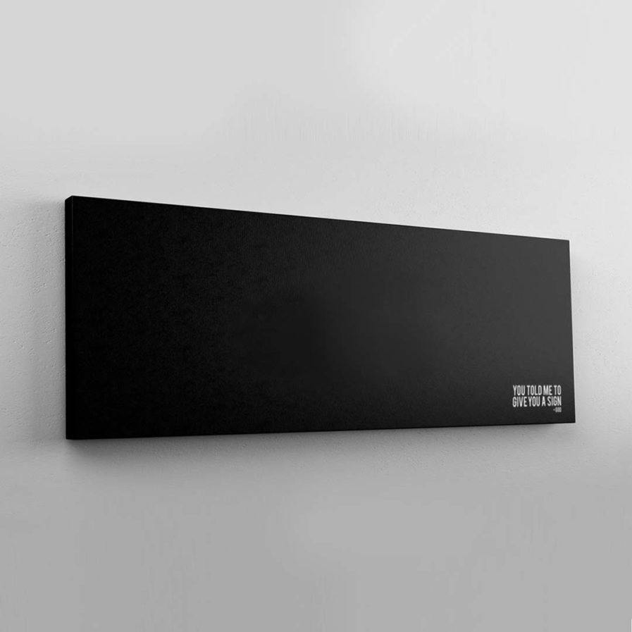 You Told Me To Give You A Sign - God   Ironic Canvas Print