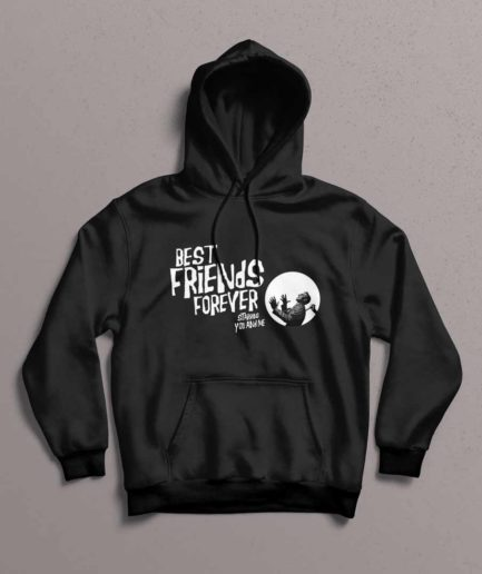 Best Friends Forever Hoodie Black