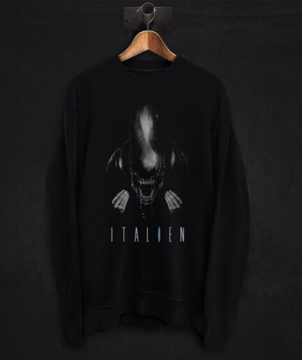 Alien movie pun sweatshirt