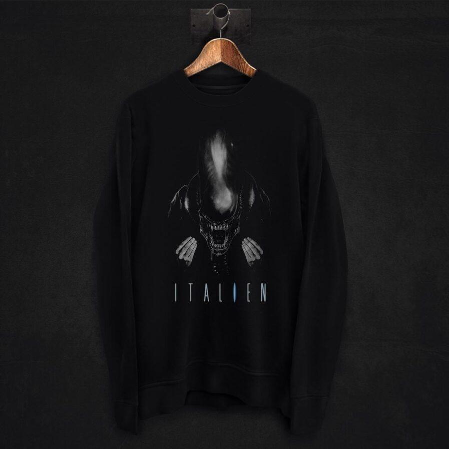 Alien movie pun sweatshirt