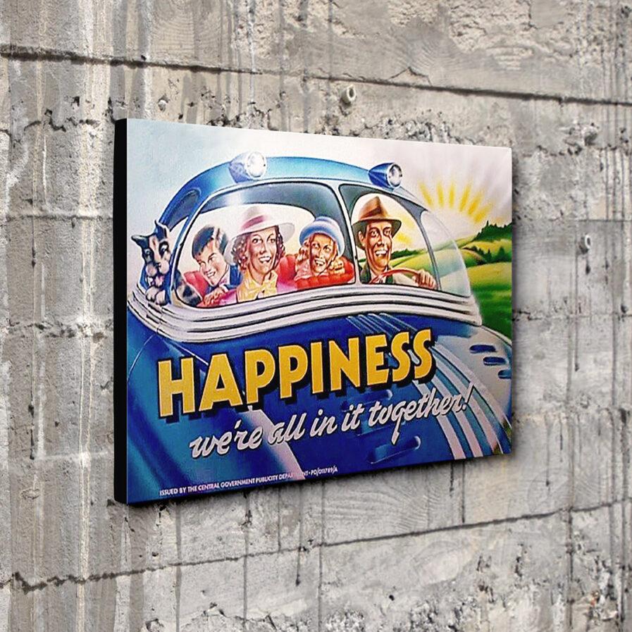"Brazil Movie Dystopian Propaganda Happiness Canvas 16""x12"""