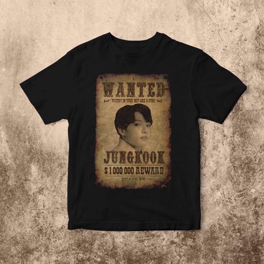 BTS Jungkook Most Wanted T-shirt