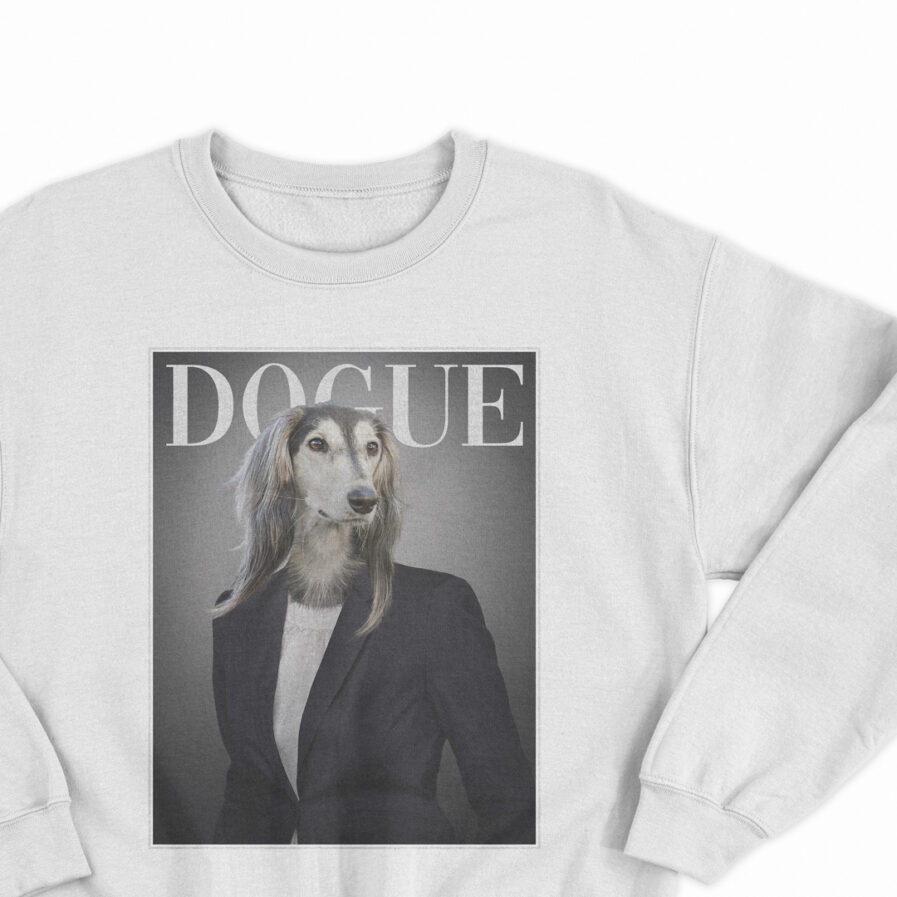 Vogue Dogue Unisex Sweatshirt Dogs Fashion Vogue
