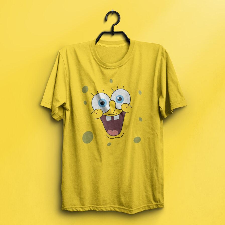 SpongeBob SquarePants T-shirt Yellow Minimal Smiley Face