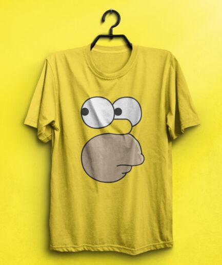 Homer Simpson Minimal tshirt yellow