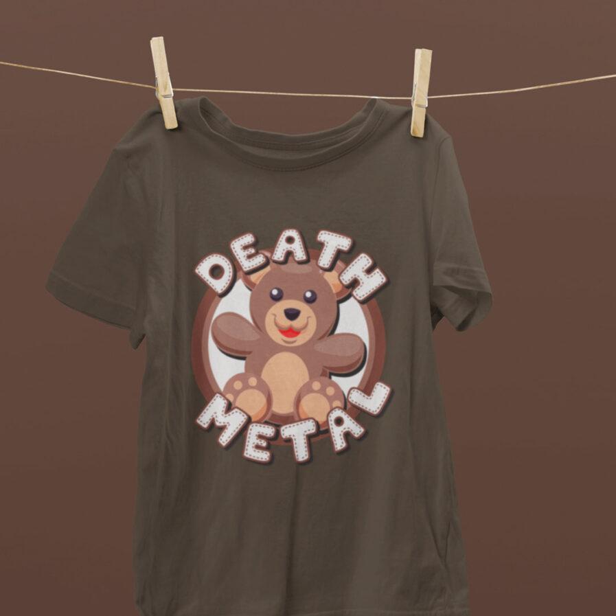 Death Metal Teddy Bear Brown Tshirt