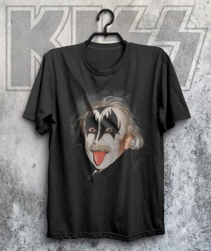 Albert Einstein KISS fan t-shirt